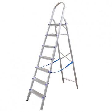 Escada Doméstica de Alumínio 7 Degraus - Real Escadas