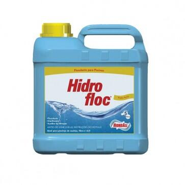 Floculante Clarificante Hidrofloc Hidroall - 5 Litros