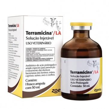 Terramicina LA Solução Injetável 50 mL - Oxitetraciclina - ZOETIS