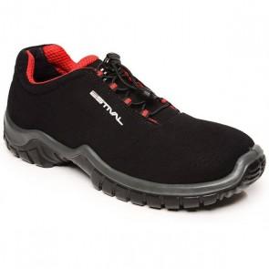Sapato de Segurança em Microfibra Estival Energy - Preto e Vermelho