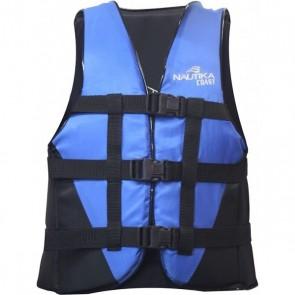 Colete Náutico Salva Vidas Flutuante Coast 90 Kg Preto e Azul - Nautika 463400
