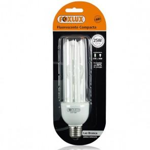 Lâmpada Fluorescente Compacta Luz Branca Tipo U 25W 110V– Foxlux UB25.1