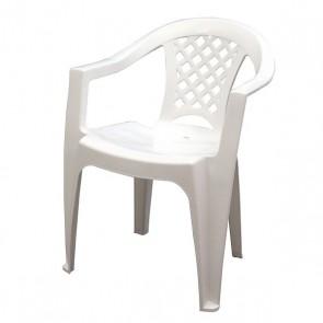 Cadeira Iguape Branca com Braços Tramontina