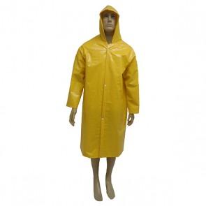 Capa de Chuva PVC Forrado Amarela GG 1,20 mts - PROT-CAP