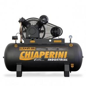 Compressor de ar Alta Pressão 20 pés 200 litros 5HP Trifásico - Chiaperini CJ 20+ APV 200L