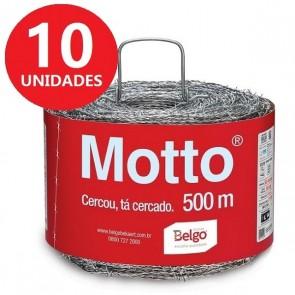 Arame Farpado Motto 500 Metros Belgo - 10 Unidades