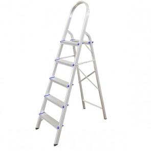 Escada Doméstica de Alumínio 5 Degraus - Real Escadas