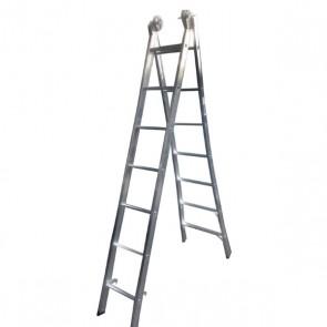 Escada Extensível de Alumínio 7 Degraus - Real Escadas