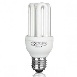 Lâmpada Fluorescente Compacta Luz Branca Tipo U 15W 110V – Foxlux UB15.1