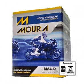 Bateria Moto 6Ah MA6D 12V - Moura