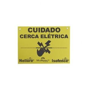 Placa Advertência Cerca Elétrica Nellore Mutlipec