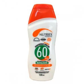 Protetor Solar Profissional com Repelente FPS 60 1/3 UVA 120 ml - Nutriex