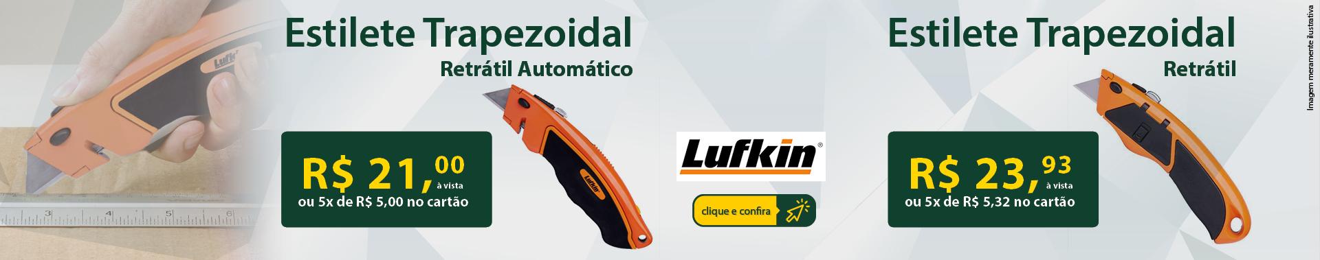 Estilete Trapezoidal Retrátil Automático Lufkin.