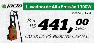 Lavadora de Alta Pressão 1300W - Jacto J5000 Stop Total.