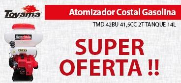 Atomizador Costal Toyama Gasolina TMD42BU 41,5CC 2T TANQUE 14L
