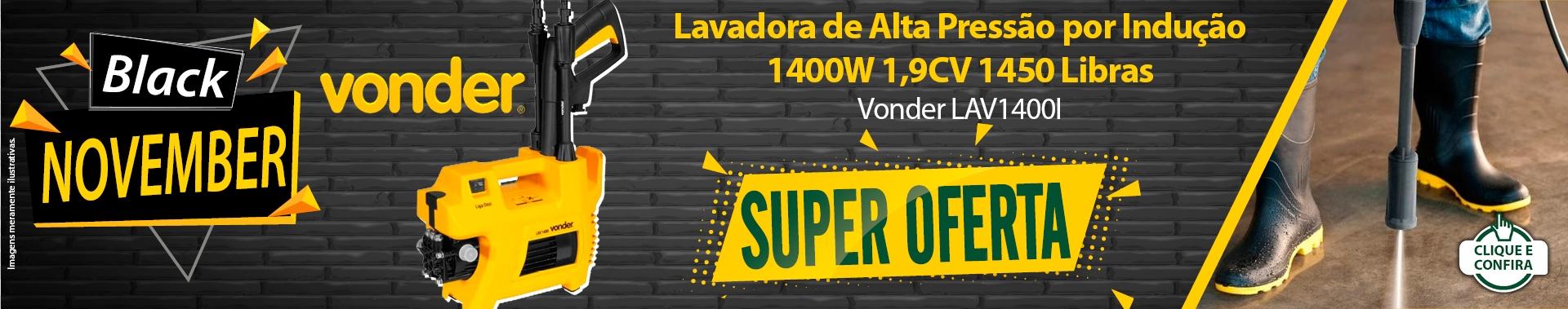 Super Oferta: Lavadora de Alta Pressão por Indução 1400W 1,9CV 1450 Libras - Vonder LAV1400I