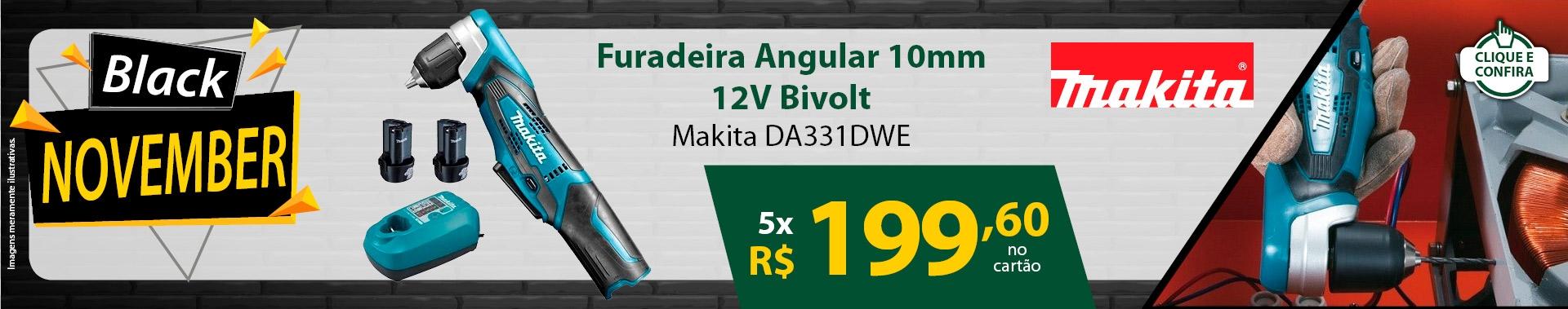 Furadeira Angular 10mm 12V Bivolt - Makita DA331DWE