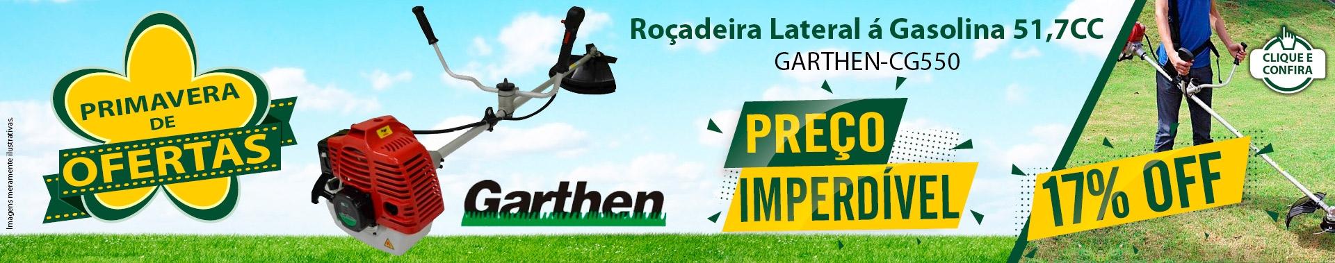 Super Oferta: Roçadeira Lateral á Gasolina 51,7CC GARTHEN- CG550 17% OFF