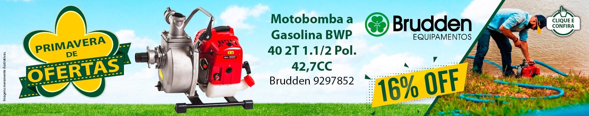 Super Oferta: Motobomba a Gasolina BWP 40 2T 1.1/2 Pol. 42,7CC BRUDDEN-9297852 16% OFF