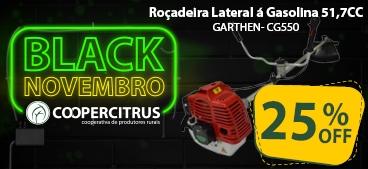 Black Novembro! Roçadeira Lateral á Gasolina 51,7CC GARTHEN- CG550 com 25% de desconto!