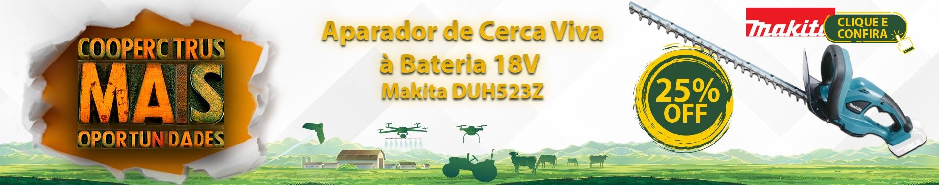 Coopercitrus Mais Oportunidades! Aparador de Cerca Viva à Bateria 18V - Makita DUH523Z com 25% OFF!