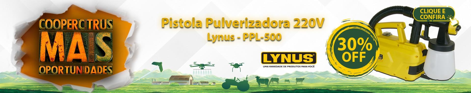 Coopercitrus Mais Oportunidades! Pistola Pulverizadora PPL-500 - Lynus-220V com 30% OFF!