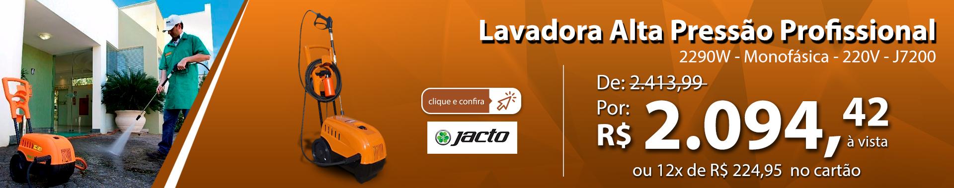 Lavadora Alta Pressão Profissional 2290W - Monofásica - 220V - Jacto J7200