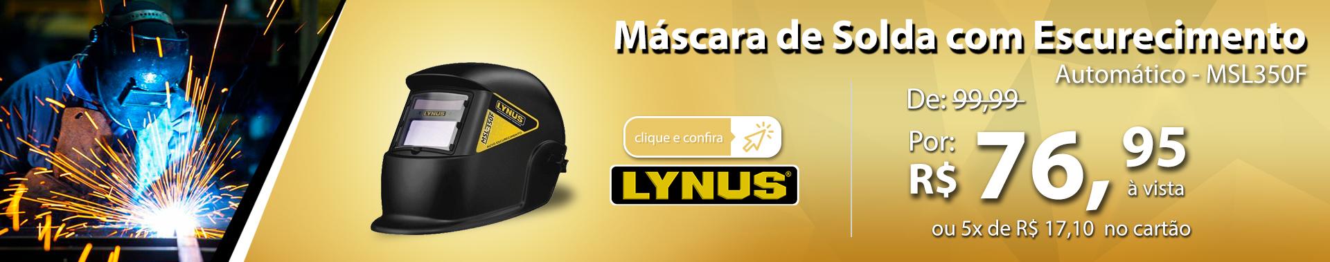 Máscara de Solda com Escurecimento Automático LYNUS-MSL350F