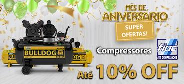 Compressores de Ar Bulldog Até 10% OFF