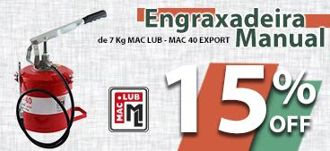 Master LP Ivermectina 4% 500mLEngraxadeira Manual de 7 Kg MAC LUB - MAC 40 EXPORT. 15% OFF