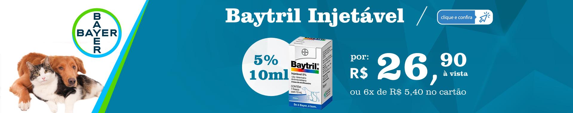 Baytril Injetável 5% 10mL - Bayer