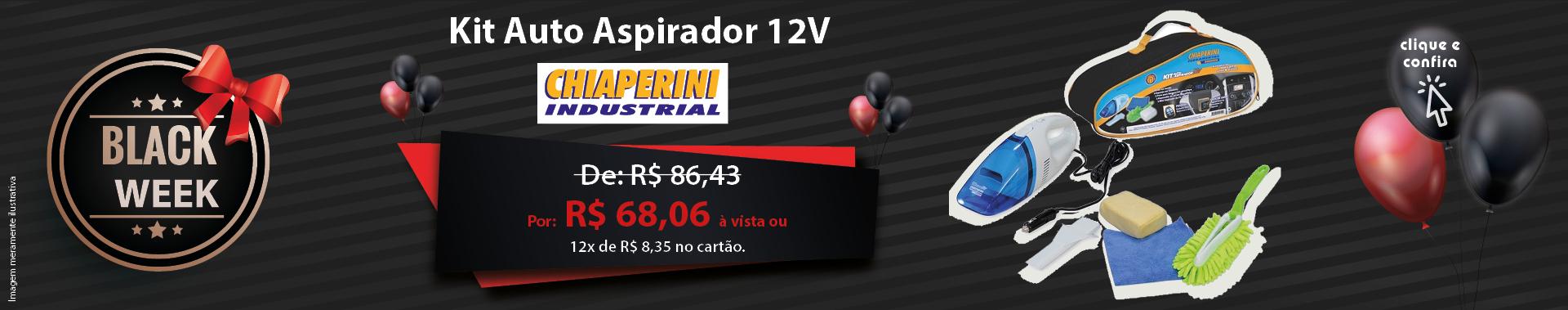 Kit Auto Aspirador 12V - Chiaperini 17142