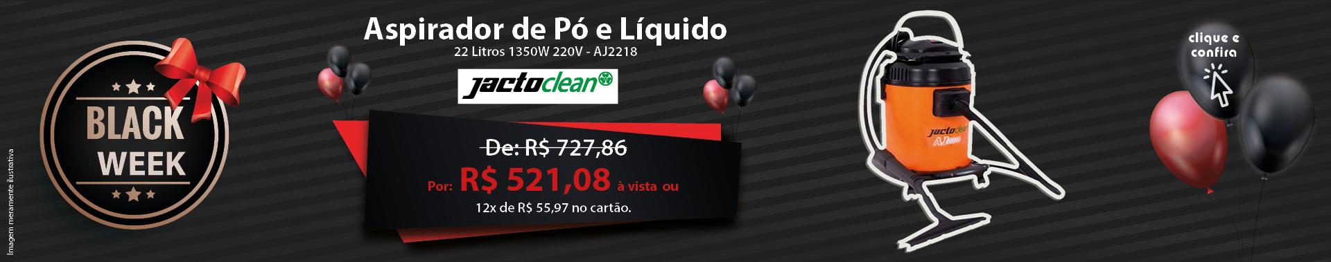 Aspirador de Pó e Líquido 22 Litros 1350W 220V Jacto Clean - AJ2218
