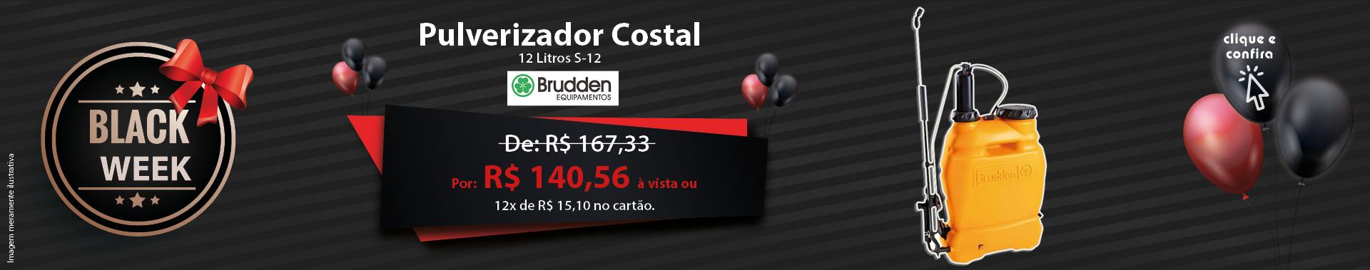 Pulverizador Costal com Capacidade de 12 Litros S-12 BRUDDEN-804